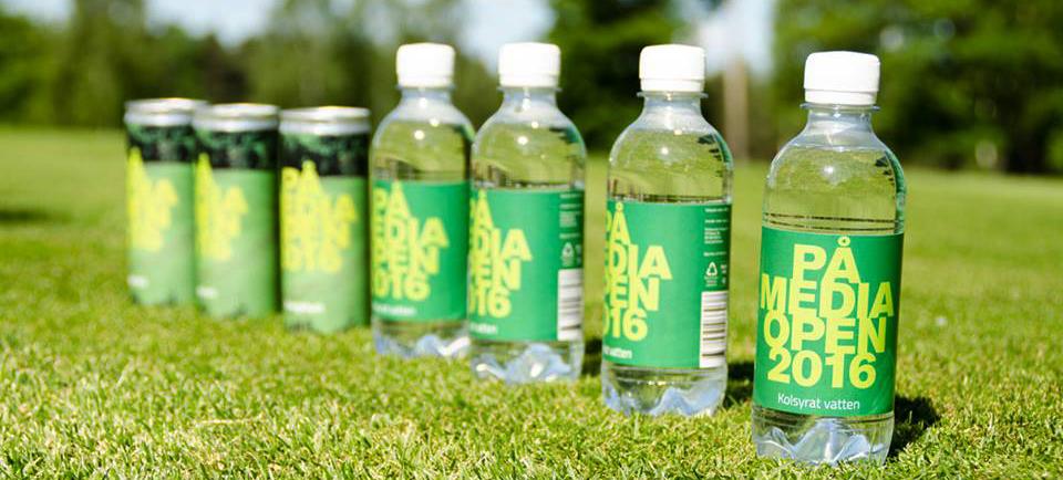 PÅ Media Opens egna vatten och energidryck