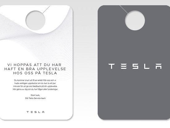 Digitaltryck i Stockholm - Tesla som kund